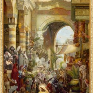 3D Jesus Entering Into Jerusalem