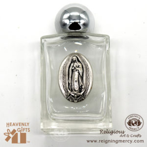 Silver Top Holy Water Bottles